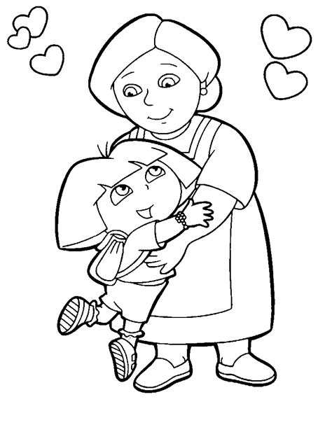coloring pages dora in the city free coloring pages of dora in the city