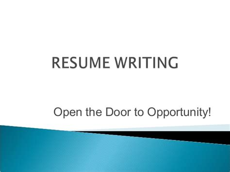 resume writing powerpoint resume format presentation on cv writing