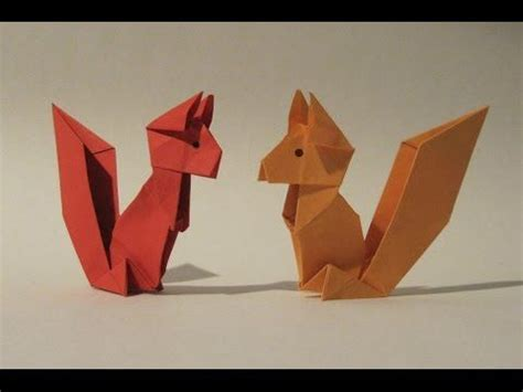 Make Paper Origami Animals - origami squirrel easy origami tutorial how to make an
