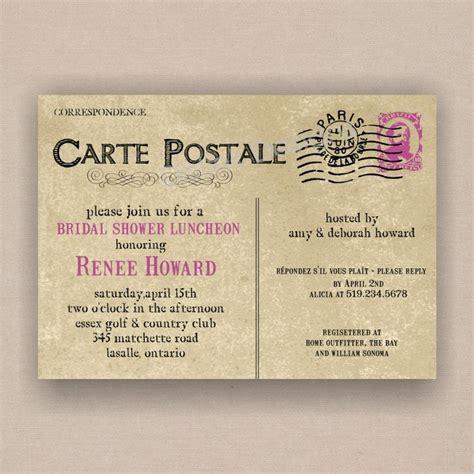 Postcard Wedding Shower Invitations by Postcard Bridal Or Baby Shower Invitation