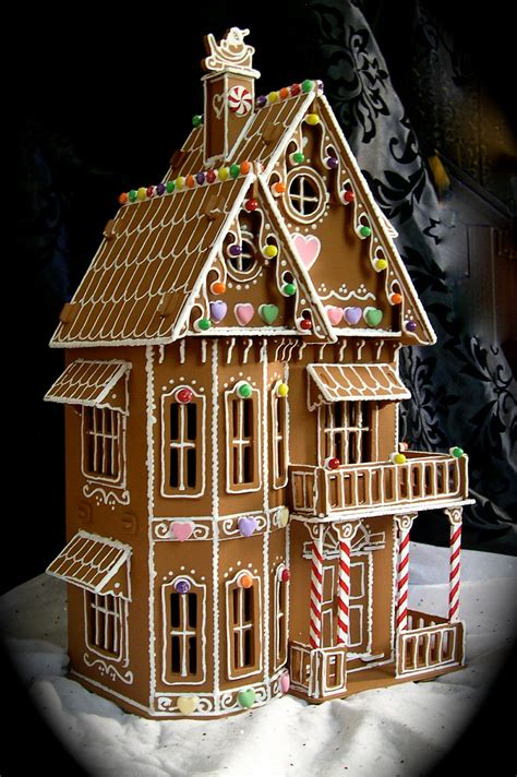 Faux Gingerbread House In The Victorian Style