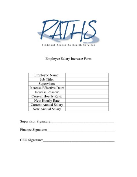 Raise Letter To Employee Template Simple Employee Salary Increase Form Sle Helloalive