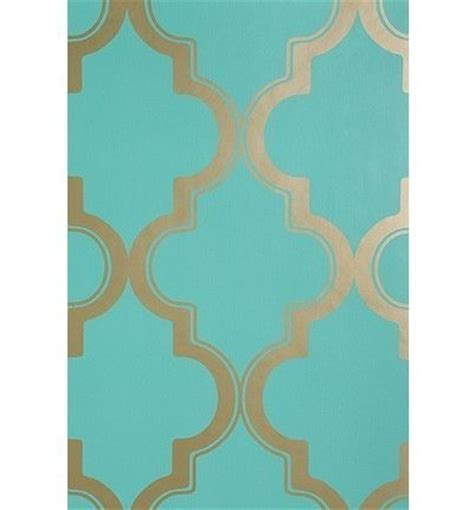 Wallpaper Turquoise Gold | turquoise gold wallpaper cool things pinterest