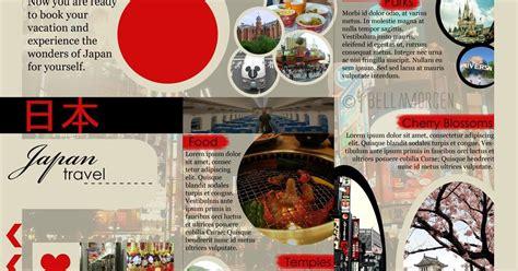 resume japan travel brochure