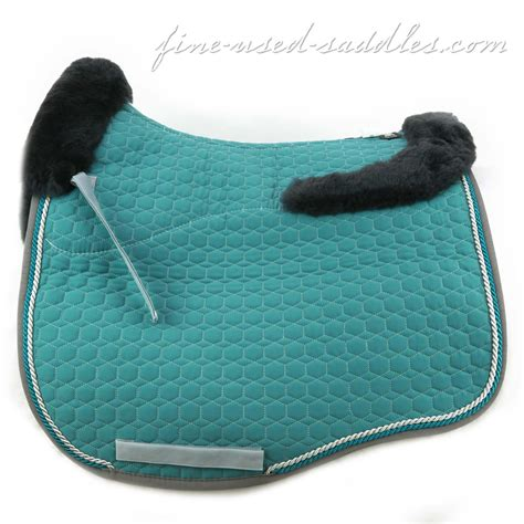 mattes pad mattes fit couture sheepskin dressage pad turquoise