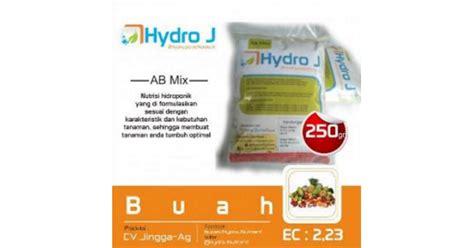 Nutrisi Hidroponik Strawberry Ab Mix Hydro J jual pupuk nutrisi hidroponik ab mix buah hydro j 250gr 085608566034
