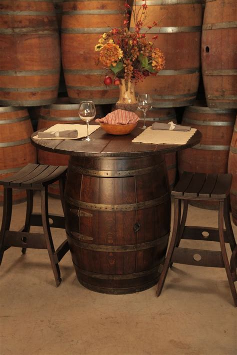 Wine Bar Table Wine Barrel Pub Table And Stools For In The Kitchen Put A Pin On