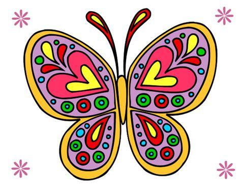 imagenes de mandalas mariposas dibujo de mandala mariposa pintado por susy4 en dibujos