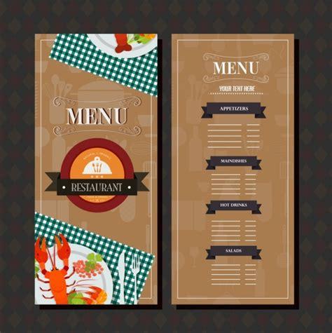 restaurant menu templates for adobe illustrator restaurant menu template brown classical design food decor