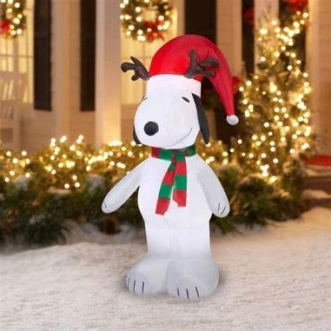 snoopy lights outdoor outdoor decorations cathy