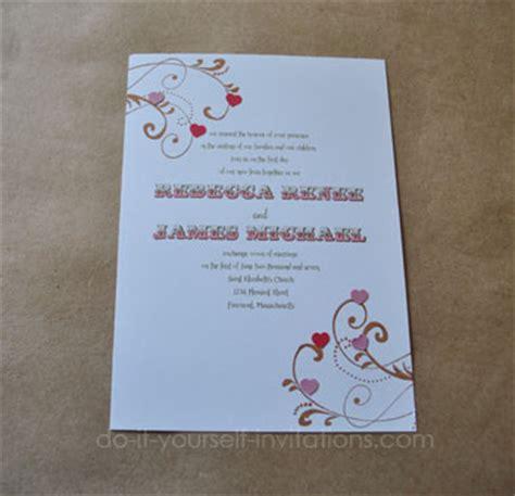do it yourself themed wedding invitations diy wedding invitations valentines and themes