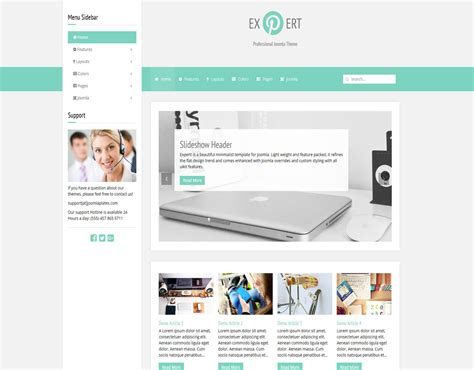 template joomla software expert joomla template