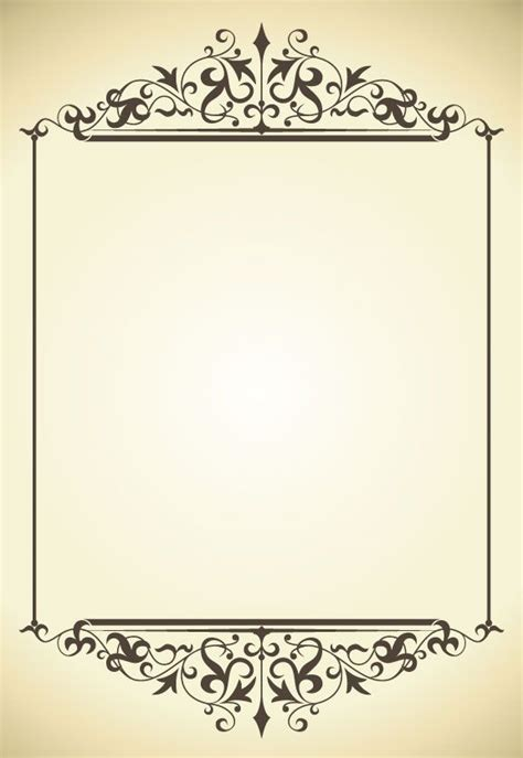 vintage frame pattern free vintage frame vector 5 borders and font pinterest