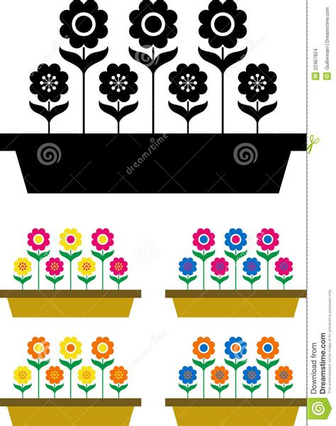 imagenes de flores vectorizadas flores vectorizadas imagenes de archivo imagen 22467824