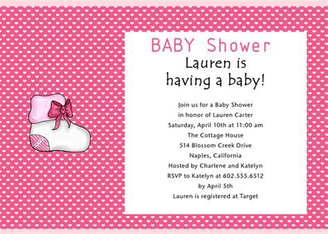 baby shower invitation wording ideas 08 baby shower themes ideas clothes and furniture
