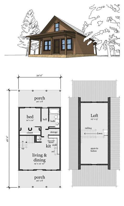 loft cottage plans 25 best ideas about small cabin plans on pinterest