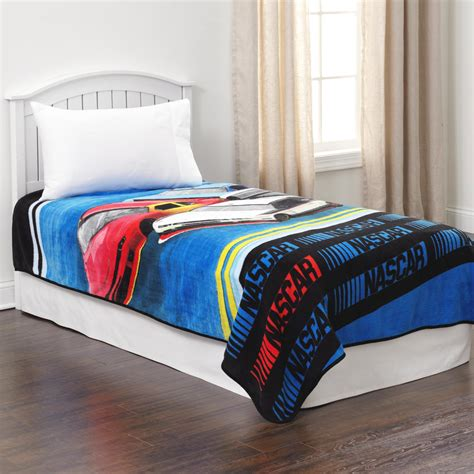 nascar bedding nascar kid s plush race car blanket home bed bath