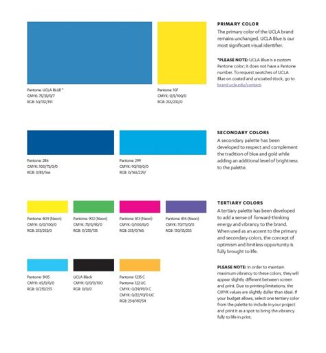 Accent Colors by Brand Colors Ucla Brand Guidelines