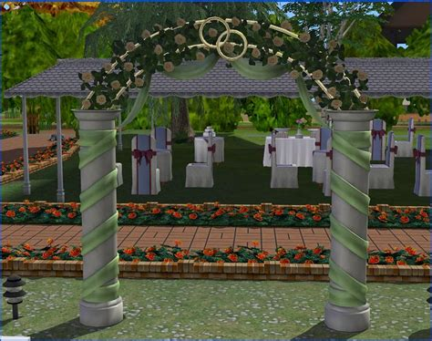 Wedding Arch In Sims 3 by Sullivan Wedding Arch Recolours