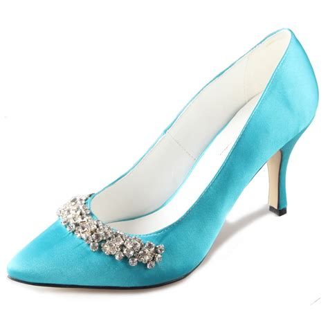 Turquoise Shoes by Aliexpress Buy Handmade Turquoise Aqua Blue Pointed