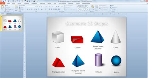 Free 3d Geometric Shapes Template For Powerpoint Presentations Free Powerpoint Shapes