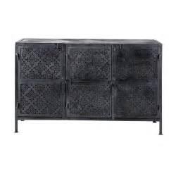 Metal Sideboard In Black W 130cm Menara Maisons Du Monde Metal Sideboard Buffet