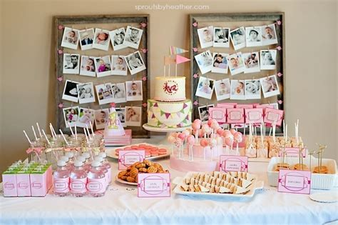 themes baby girl first birthday first birthday party table setting all items except the