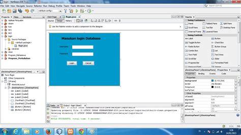 cara membuat database mysql di java cara membuat form login di netbeans menggunakan database