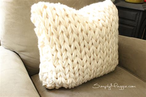 big stitch knit pillow pattern simplymaggie