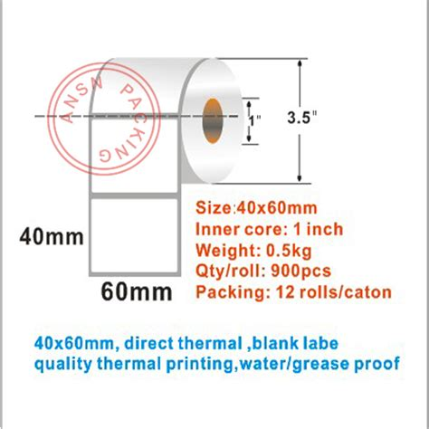 Label Barcode Direct Thermal 60mmx40mm Diskon plain direct thermal label buy plain direct thermal label barcode label roll thermal jumbo