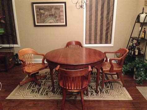 My Walnut Bankers Chairs Images Antiqu With Ashley Dining Room Furniture St Louis