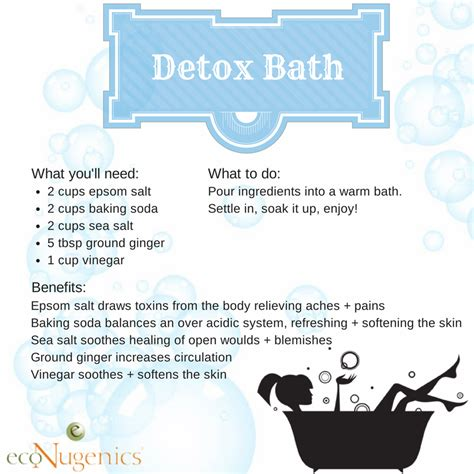 How To Make A Detox Bath To Lose Weight by Infographic Detox Bath Econugenics