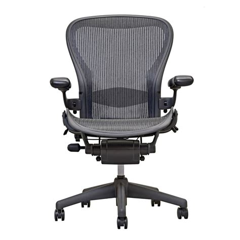Aeron Chair White by Herman Miller Aeron Chair Open Box Size B Fully Loaded