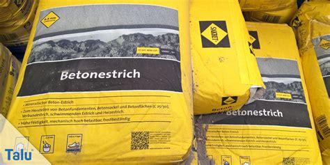 Trockenzeit Estrich Beton by Beton Estrich Trockenzeit Grundierung With Beton