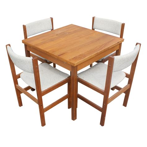 Dining Room Extension Table And Chairs Vintage Teak Extension Dining Table 4 Chairs Ebay