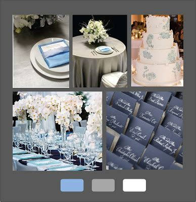 Seasons of Life: Grey and Blue Wedding Design