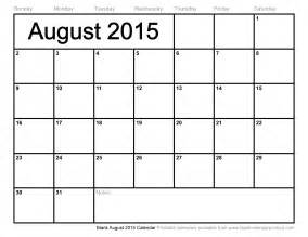 Blank Calendar 2015 Template by Blank Calendar Template August 2015 Blank Calendars 2017