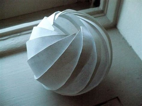 paper sphere template skewball origami paper folding and craft