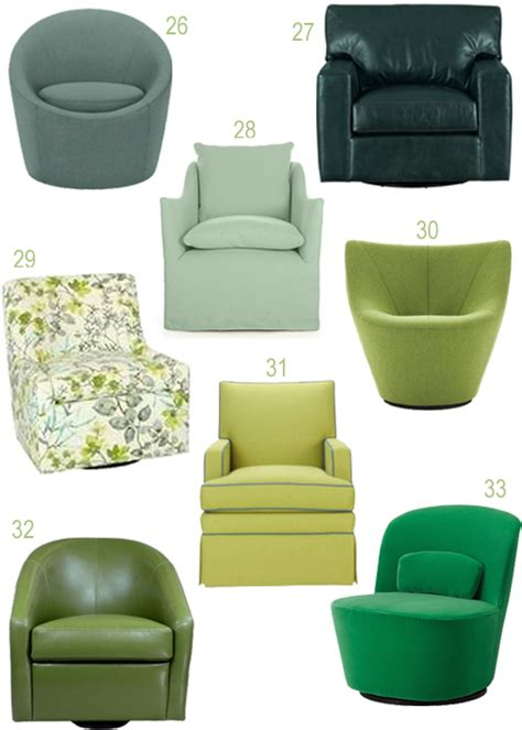 Lime Green Home Decor get the look upholstered swivel chairs in every color