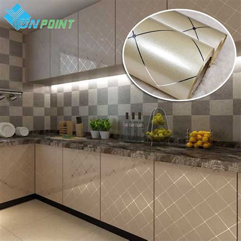 best glue for kitchen cabinets 60cmx5m pvc waterproof self adhesive film gold grid silver