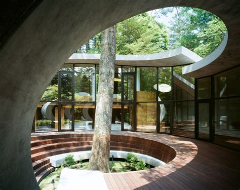 concrete shell villa   forest idesignarch