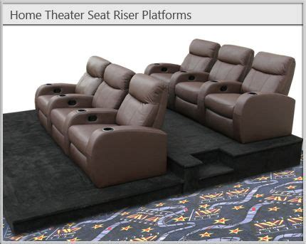 home theater  seat risers home theater