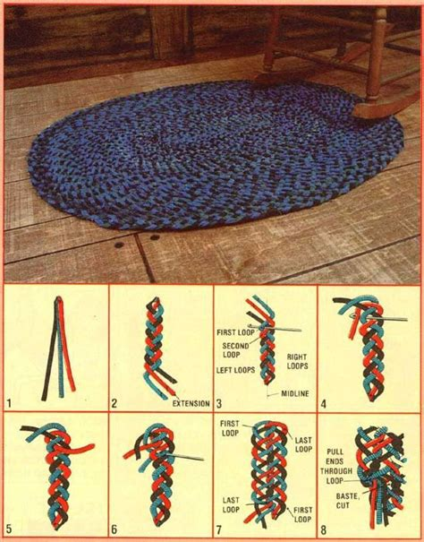 How To Make Handmade Carpets - an interwoven braided rug do it yourself rugs