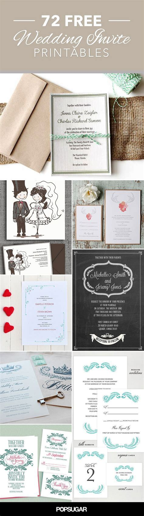 72 Beautiful Wedding Invite Printables to Download For