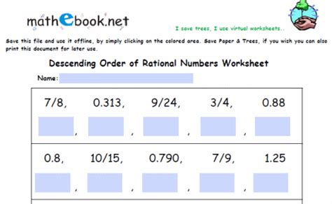 Rational Numbers Worksheets 8th Grade by That There Are Numbers That Are Not Rational And