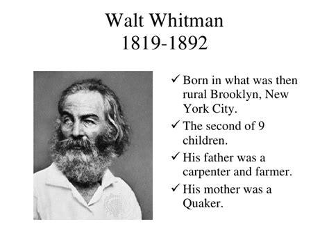 biography of walt whitman walt whitman
