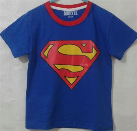 kaos anak superman biru 1 6 grosir eceran baju anak murah berkualitas