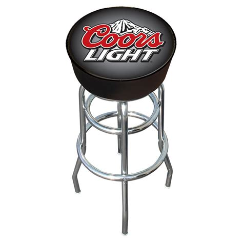 Coors Light Padded Bar Stool by Trademark 174 Coors Light 174 Padded Bar Stool 164873 At