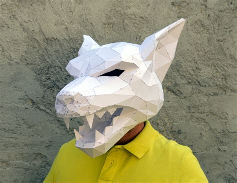 Papercraft Costumes - make your own mask papercraft
