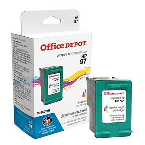 Office Depot Ink Cartridges by Office Depot Brand Od297a Hp 97 Remanufactured Tricolor